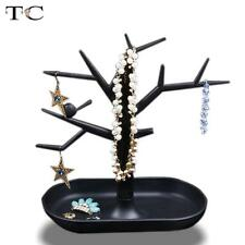 Jewelry Necklace Ring Earrings Black Bird Tree Stand Display Organizer Holder