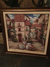 Spectacular French Bistro Scene Painting.Oil On Canvas By Roger Duvall.