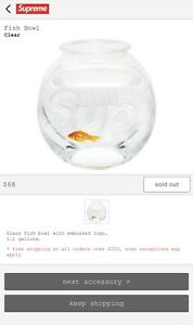 Supreme Fish Bowl Clear FW20 BRAND NEW ORDER CONFIRMED