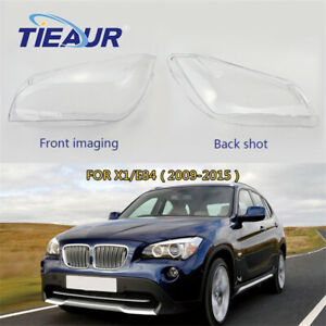 One Pair Headlights Glass Cover Clear Headlamp shell For BMW X1 E84 2009-2015