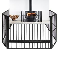 Scandia STEEL HEATER GUARD Wood Fireplace Fire Place Child Safety Barrier 127cm
