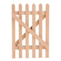 1/12 Unpainted Wooden Barrier Fence Gate for Dolls House Room Garden Decor