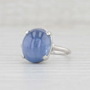 Star Sapphire Violet Blue Ring 900 Platinum Size 7 Oval Solitaire Peacock GIA