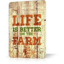METAL TIN SIGN LIFE BETTER ON FARM Rusted Retro Vintage Decor Garage Wall Bar