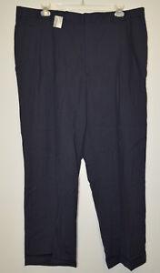 Barrington Premier Men's Blue Pleated Dress Pants Size: 44 x 30 (B2.15) NWT