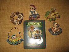 6 Boyds Bearwear*PIN BROOCH*PENDANT*Bear*Clown*santa*sunflower*teacup*moose*