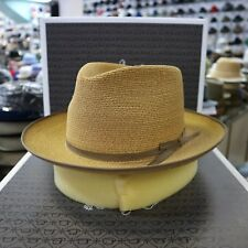 5791bcfa1d879 STETSON STRATOLINER SPECIAL EDITION SAND C-CROWN DRESS HEMP STRAW HAT