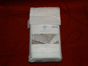 Simply Shabby Chic White Embroidered Bed Skirt 15'' Drop Twin