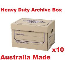 10Archive Boxes for Moving & Packing Documents Storage Cardboard Cartons