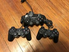 Lot of 3 Official Sony Dualshock 2 Controllers Fully working - PS2 LOT 2
