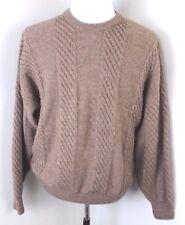 Bobby Jones Italy Hickey Freeman Alpaca Wool Aran Knit Cable Sweater Mens M
