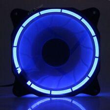 Eclipse 120mm 25mm Blue LED Fan 12V DC 60CFM Quiet PC Computer Case Cooling Fan