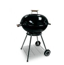 Barbecue a Carbonella  Con Ruote Tondo  Ø 56 cm Struttura in Acciaio Nero
