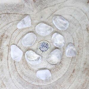 10 x Clear Quartz Tumblestones Crystals Seconds 120-138g Reiki Healing Wholesale