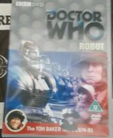 DOCTOR (DR) WHO - ROBOT (1974) - 2007 BBC DVD - TOM BAKER FIRST STORY