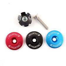 "FSA Bicycle Headset Star Nut & Top Cap Set // 1-1/8"" // Black Blue Red Orbit MX"