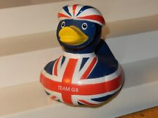 Bath Duck, Rubber Duck,Toy London Olympic Games 2012 Cyclist Blue Team GB HY-PRO