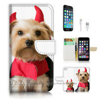 ( For iPhone 7 Plus ) Wallet Case Cover P3036 Evil Puppy Dog