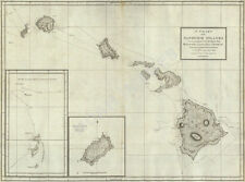Chart of Sandwich Islands Hawaii c1798 map 18x24