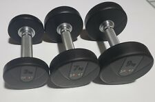 Urethane Dumbbells Set - 3 Pairs - 6lbs ,15lbs , 20lbs