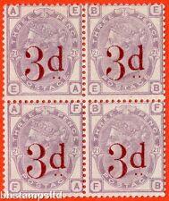"""SG. 159. K8A. """" EA EB FA FB """". 3d on 3d lilac. A very fine UNMOUNTED MINT block"""
