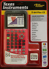NEW Texas Instruments TI-84 Plus CE Color Graphing Calculator Coral