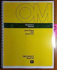 John Deere 1210 Grain Cart Owner's Operator's Manual OM-GA10217 H2 10/82