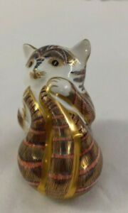Royal Crown Derby Playful Kitten Cat paperweight. No stopper 1993