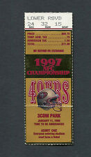 1997 NFL NFC Championship Game Ticket Stub Green Bay Packers San Francisco 49ers
