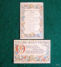 1947 GIRL SCOUT LAWS & PROMISE POSTCARDS