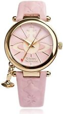 Vivienne Westwood Women's Orb II Quartz Watch With Pink Dial Analogue Display