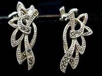 Art Deco style Marcasite Clip on earrings.