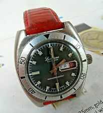 Vintage 1970's Men's Lucerne Calendar Diver's Swiss Mechanical Day Date Watch