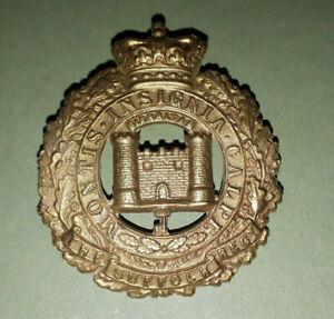 QUEEN VICTORIA THE SUFFOLK REGIMENT BRITISH ARMY GLENGARRY BADGE