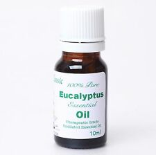 100% Pure 10ml Organic Undiluted Eucalyptus Essential Oil Suani Aroma Therapy aa