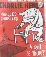 CHARLIE HEBDO N° 1325 de DEC. 2017 SPECIAL JOHNNY HALLYDAY VIEILLES CANAILLES ..
