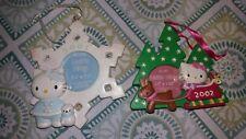 Sanrio Hello Kitty Hanging Christmas Ornament Photo Frame Magnets - Vintage (2)