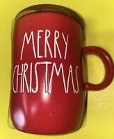 Rae Dunn Merry Christmas mug coaster top