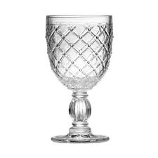 Amazing New Style Retro Set of 2 Knit Wine Goblet Clear Glass Drink Glass
