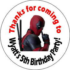 12 deadpool stickers Birthday Party loot bag 2.5 Inch Personalized dead pool