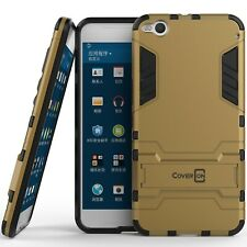 for HTC One X9 Phone Case Armor Kickstand Slim Hard Cover Gold / Black
