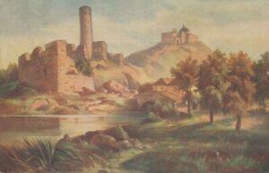 Hugo Ullik: Ruine (Künstlerkarte) gl1923 136.021