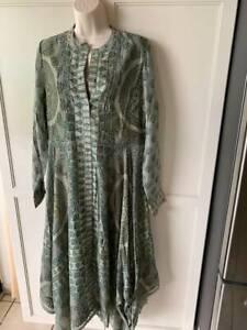 SOFT SURROUNDINGS Jardin Marjorell Shirtdress-Green Floral-NWT- SZ M,L,XL,1X