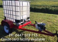 1000lt ibc water tank trailer fire Fighting unit honda pump 36m hose reel