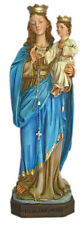 Our Lady of the Rosary Alabaster Statue, Color, 11 inches.