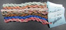 7x Needlepoint/Embroidery THREAD CARON Waterlilies 12 ply overdyed silk-HH5