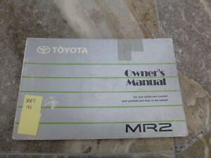 Toyota MR2 Owners manual handbook MR-2 W20 Mk2 MKII 1991