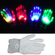 Halloween Pair of Colorful LED Skeleton Gloves Flashing Gloves Unisex Rave Party