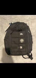 Quiksilver 25L GRENADE BACKPACK School Surf Travel Bag New - EQYBP03572 Black