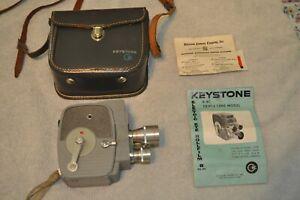 Vintage Keystone 8MM Electric Eye Model K-4C Movie Camera With Box - Working